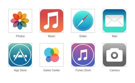 Les nouvelles icônes iOS 7
