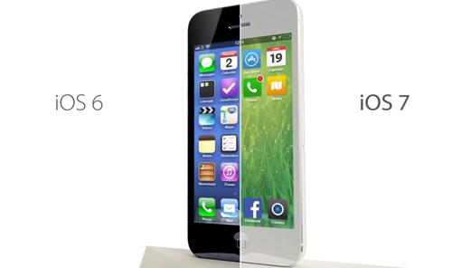 iOS 7 surfe sur la tendance Flat design