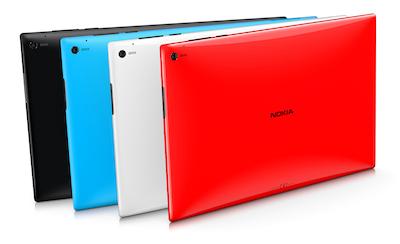 Le Nokia Lumia 2520 est coloré