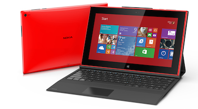 Le Nokia Lumia 2520 version rouge