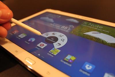 Le stylet du Samsung Galaxy Note 10.1 édition 2014 prend tout son sens avec les applis