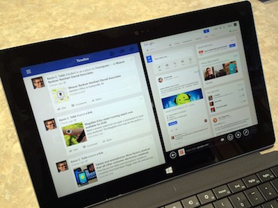 La Surface 2 peut faire fonctionner les applis en multi-tâches