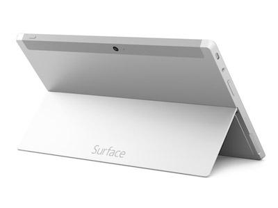 La Surface 2 peut se poser aisément grâce à son capot inclinable
