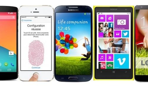 Top des meilleurs smartphones 2014