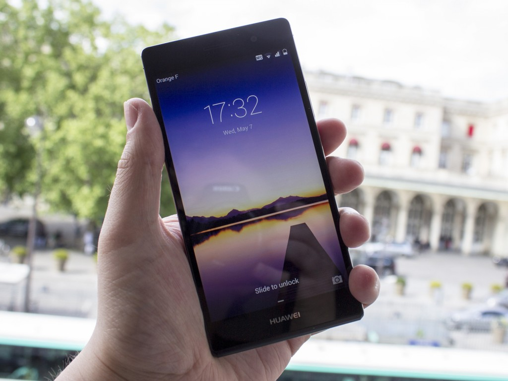 L'écran du Huawei Ascend-  P7 fait forte impression !