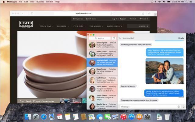 OS X Yosemite présente les interfaces avec un effet translucide
