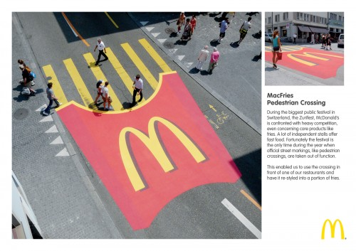 Street marketing Mcdonald's