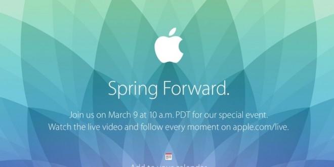 Apple : la keynote Apple Watch se déroulera le 9 mars !
