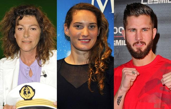 Florence Arthaud (à gauche), Camille Muffat (au centre) et Alexis Vastine (à droite) font partie des victimes du crash