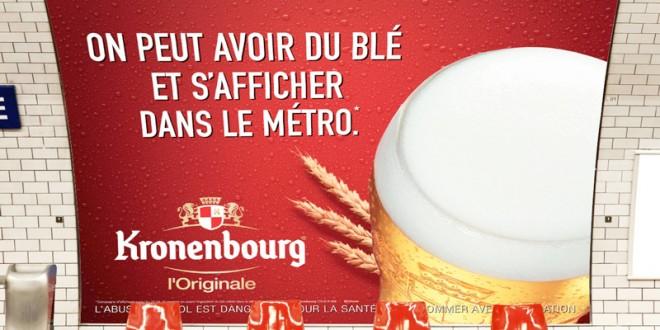 Kronenbourg : une campagne humoristique personnalisée par rapport au lieu et à son média